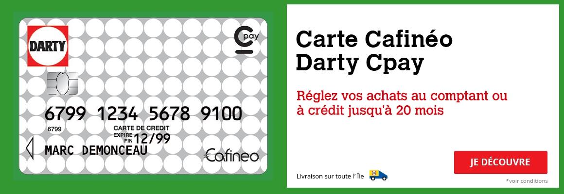 Avec Carte Cafinéo Darty Cpay, réglez vos achats à crédit en ligne