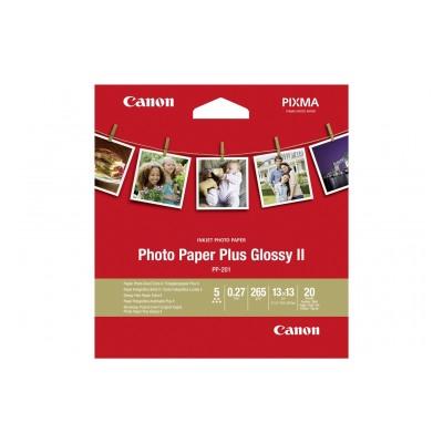 Canon CANON PP-201 13x13 cm 20 FEUILLES PAPIER PHOTO BRILLANT PLUS II 265g