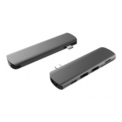 Onearz Mobile Gear Adapt. USB-C vers HDMI, USB-C PD, 1 microSD+SD, audio Space Gray