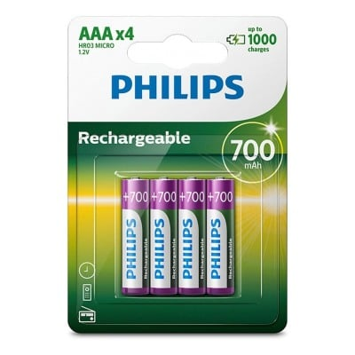 Philips PILES RECHARGEABLE AAA LR03 700 MAH