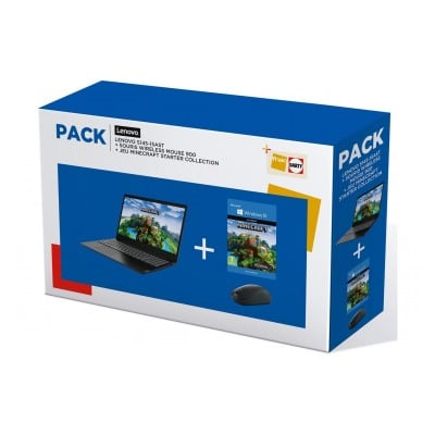 Lenovo Pack famille IdeaPad S145 + souris + Minecraft