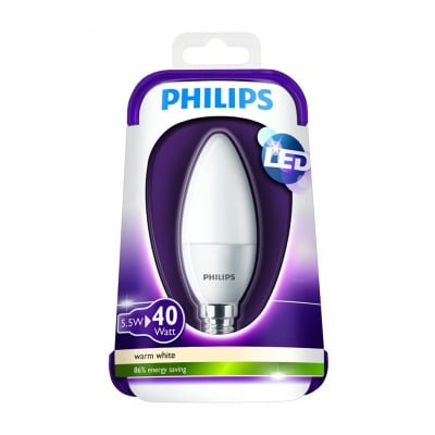 Philips FLAMME - 5,5W(40W) - CULOT E14