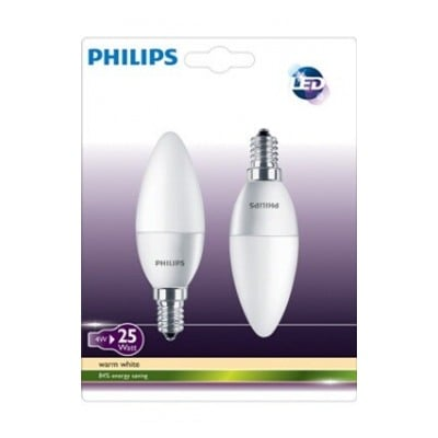 Philips Pack FLAM (X2) D E14 4W