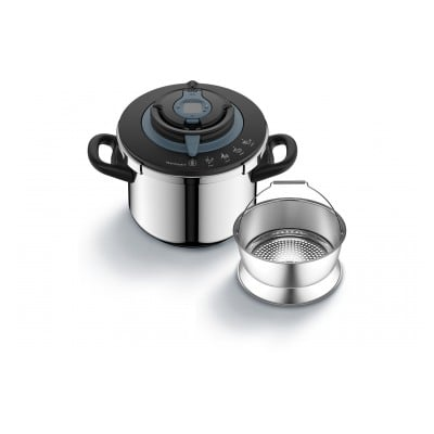 Seb NUTRICOOK+ COCOTTE MINUTE 8 LITRES INOX INDUCTION