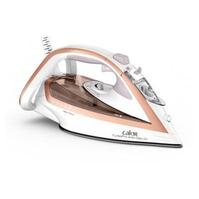Calor FER VAPEUR TURBO PRO ANTI-CALC 2800 W Blanc et Rose Gold FV5687C0