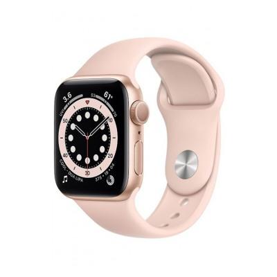 Apple Watch Series 6 GPS, 40mm boitier aluminium or avec bracelet sport rose