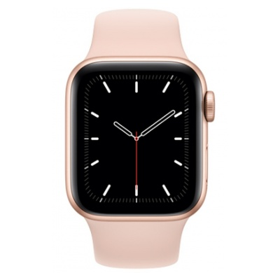 Apple Watch SE GPS, 40mm boitier aluminium or avec bracelet sport rose