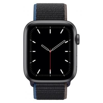 Apple Watch SE GPS + Cellular, 44mm boitier aluminium gris sidéral avec bracelet sport charbon