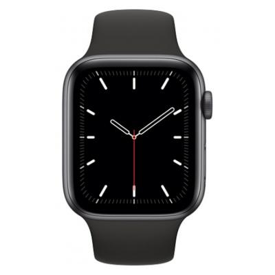 Apple Watch SE GPS, 44mm boitier aluminium gris sidéral avec bracelet sport noir