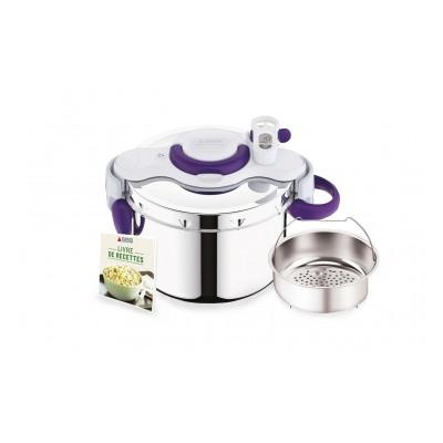Seb CLIPSOMINUT' PERFECT+ violet 7,5L Poignées rabattables P4904800