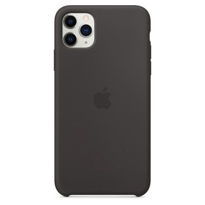 Apple Coque en silicone pour iPhone 11 Pro Max - Noir