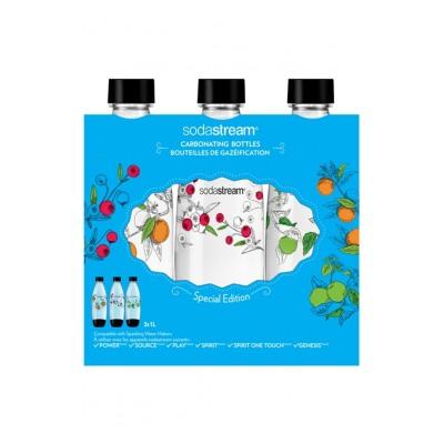 """Sodastream Pack 3 bouteilles PET 1L Série limitée """"Collection"""""""